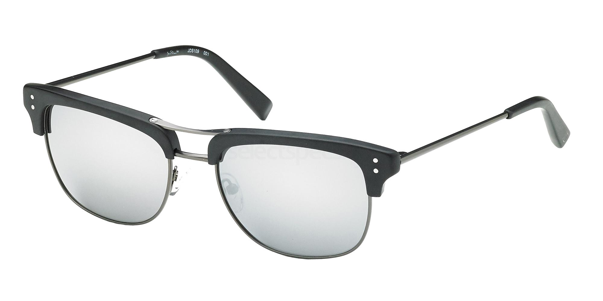 80fa3640124a James Dean Sunglasses JDS109 Matte Black-Green With Silver Flash ...