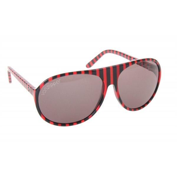 16a1c2b019 Von Zipper Rockford Sunglasses Red Black Stripe Lens ...